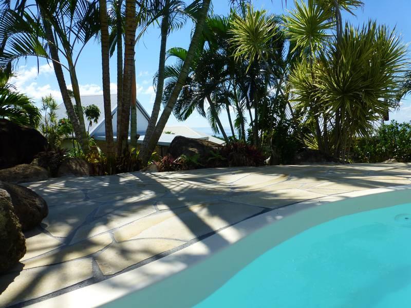 Le jardin tropical de votre bungalow en guadeloupe bleu for Jardin tropical guadeloupe